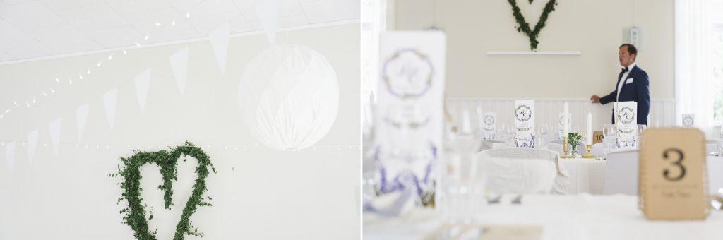Trögdsgården i Veckholm är utsmyckad för bröllopsfest