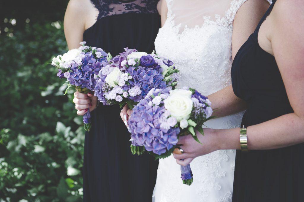 Bruden och tärnornas buketter