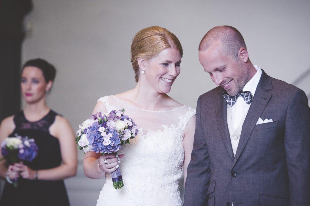 Brudparet i kyrkan