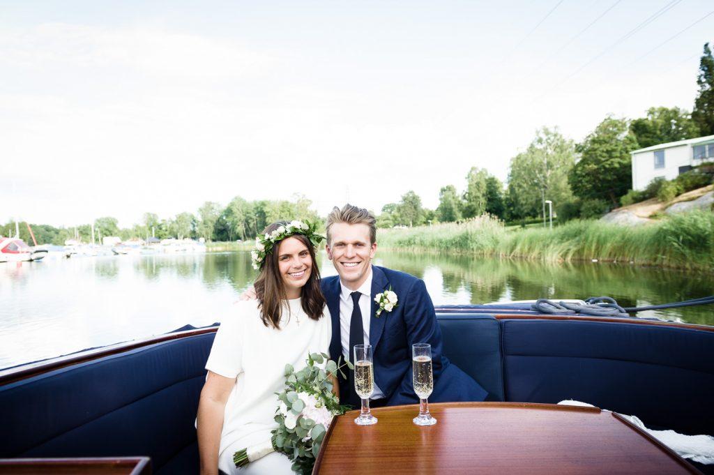 bröllop, Lidingö, sommarbröllop, båt